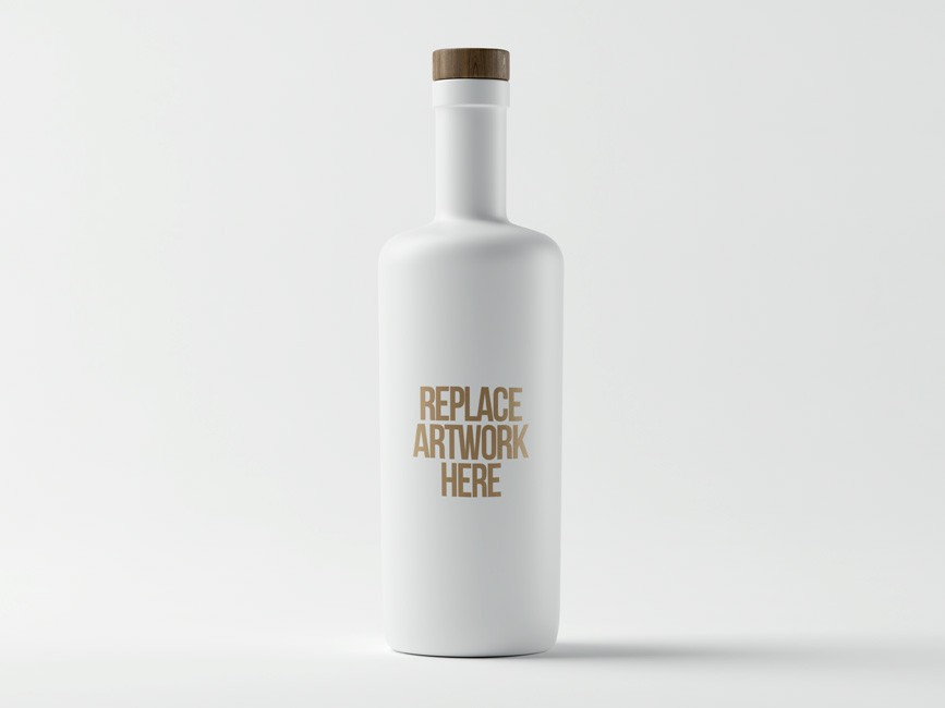 White Bottle Mockup PSD