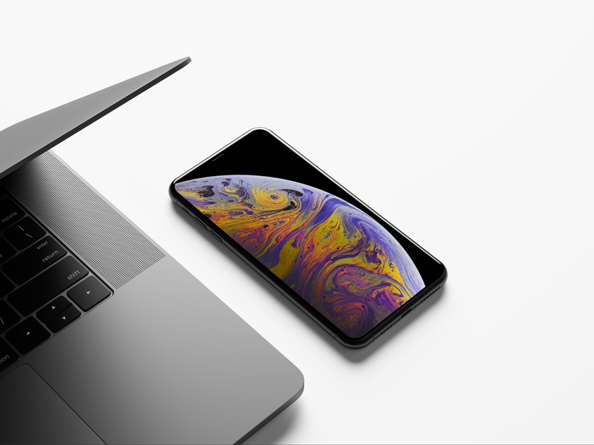 Clean iPhone XS Max Mockup