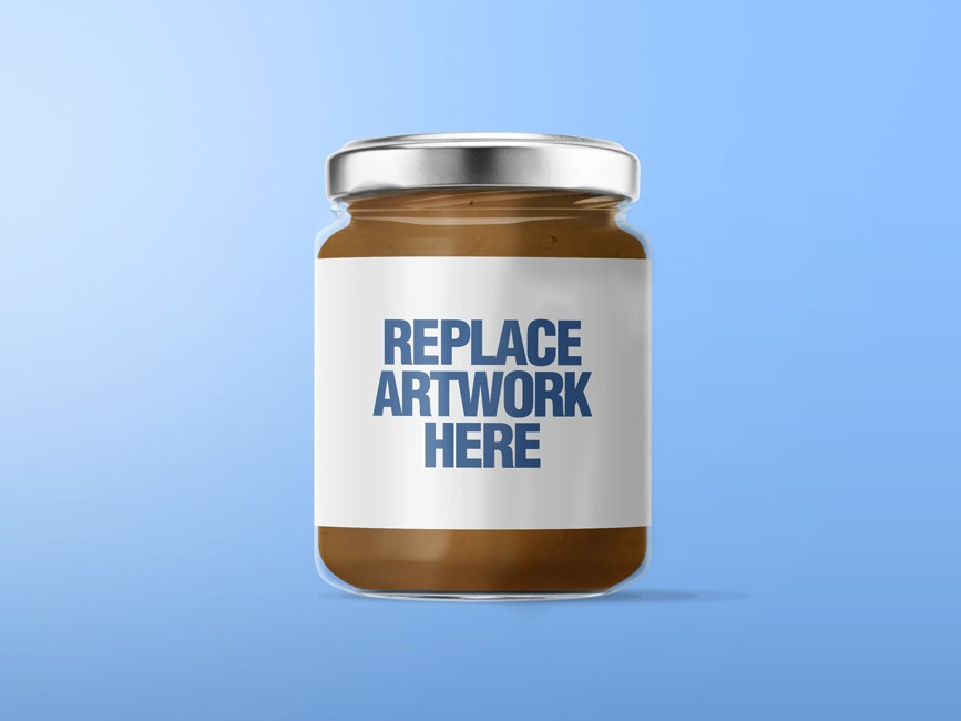 Peanut Butter Glass Jar Mockup