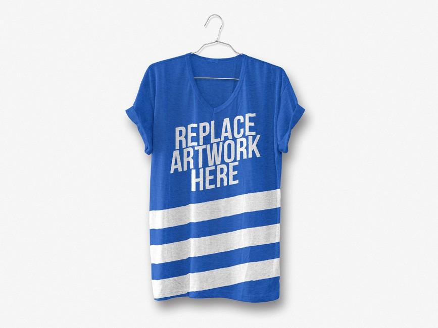 Realistic Hanging T-Shirt Mockup
