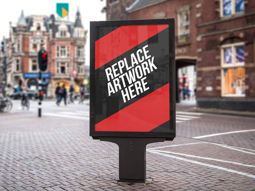 Street Poster Signboard Mockup
