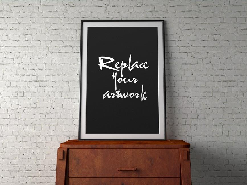 Indoor Poster Frame Mockup