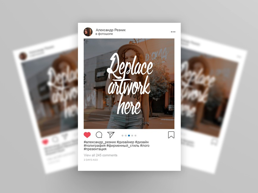 Instagram 2019 Post Mockup