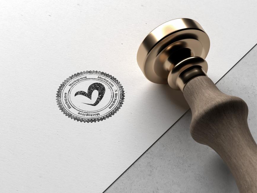 Logo Rubber Stamp Mockup