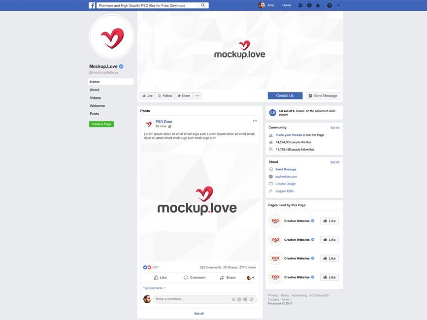 2019 Facebook Page Branding Mockup