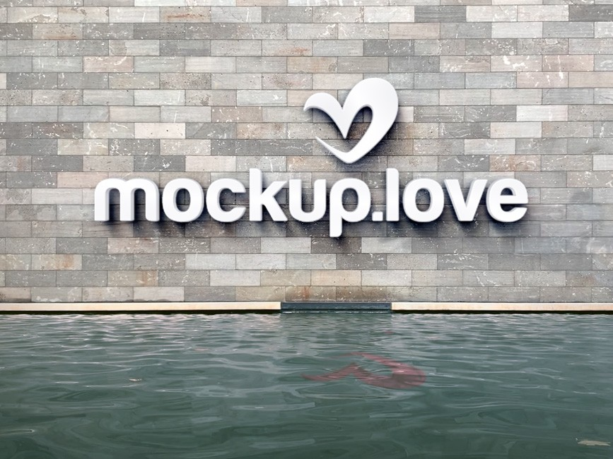 3d Logo On Wall Mockup Mockup Love