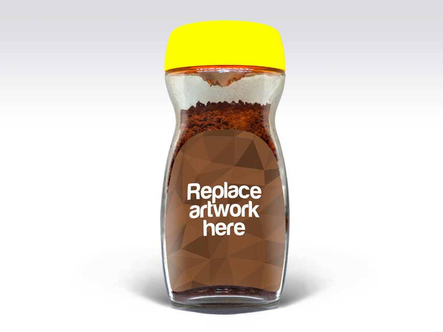 Coffee Glass Jar Label Mockup