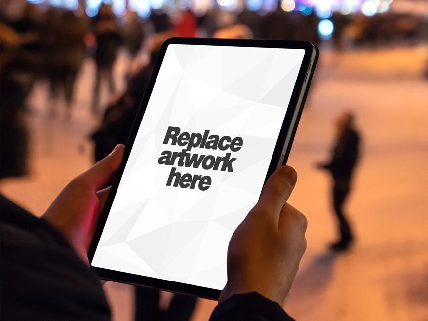 New iPad Pro in Hand Mockup  mockup, free mockup, psd mockup, mockup psd, free psd, psd, download mockup, mockup download, photoshop mockup, mock-up, free mock-up, mock-up psd, mockup template, free mockup psd, presentation mockup, branding mockup, free psd mockup