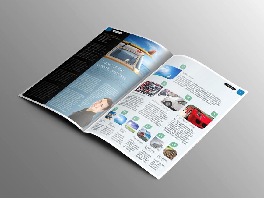 Photorealistic Bi-Fold Brochure Mockup