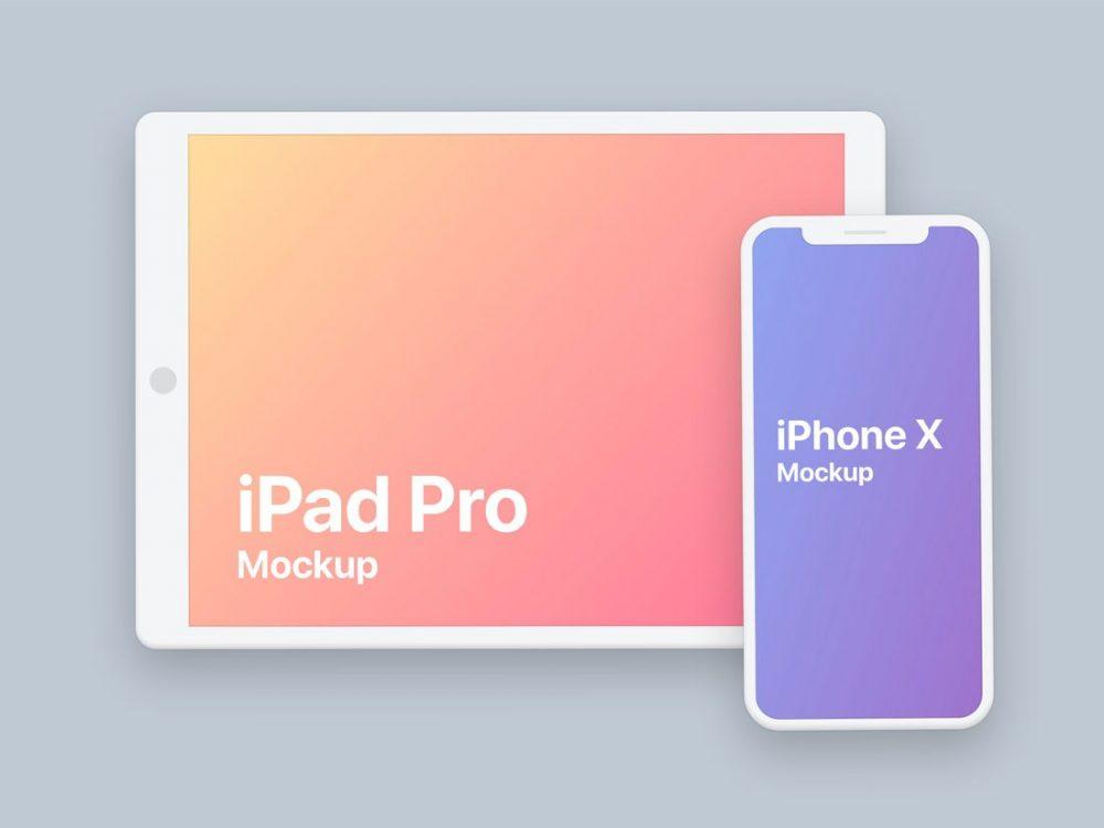 Flat iPad and iPhone X Mockup  mockup, free mockup, psd mockup, mockup psd, free psd, psd, download mockup, mockup download, photoshop mockup, mock-up, free mock-up, mock-up psd, mockup template, free mockup psd, presentation mockup, branding mockup, free psd mockup