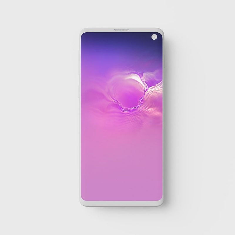 Galaxy S10 Front View Mockup