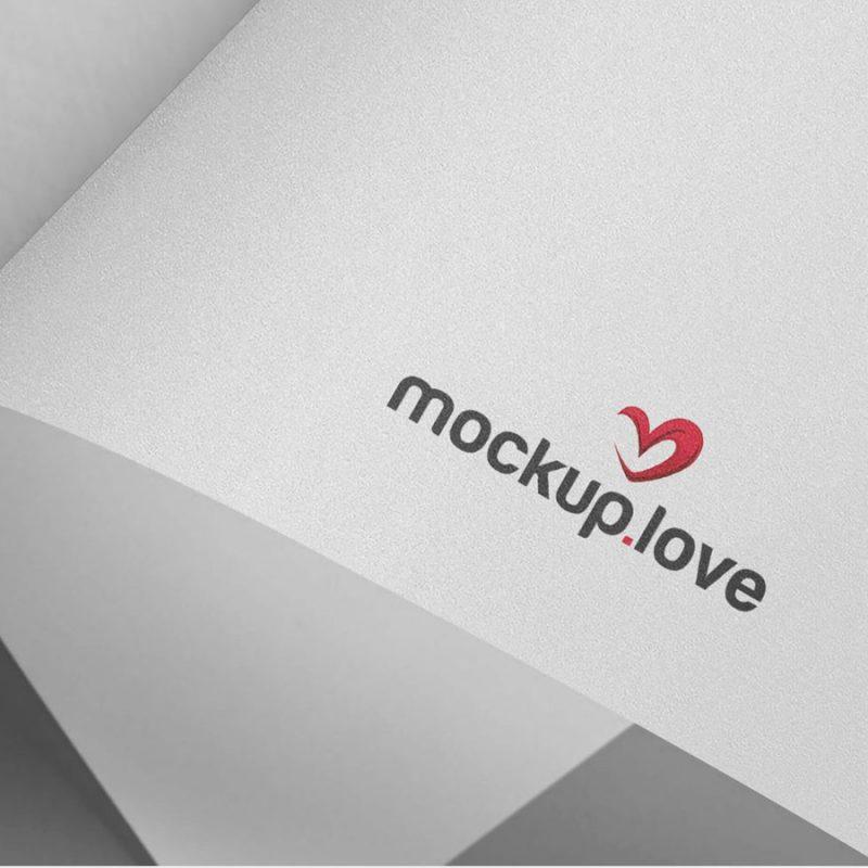 Logo Branding on Paper Mockup