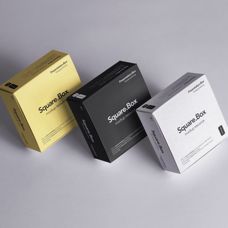 Multiple Box Packaging Mockup
