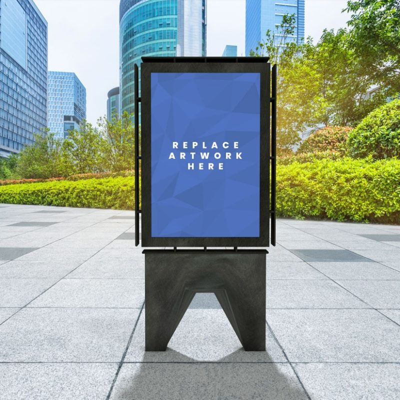 Outdoor Advertisement Board Poster Mockup