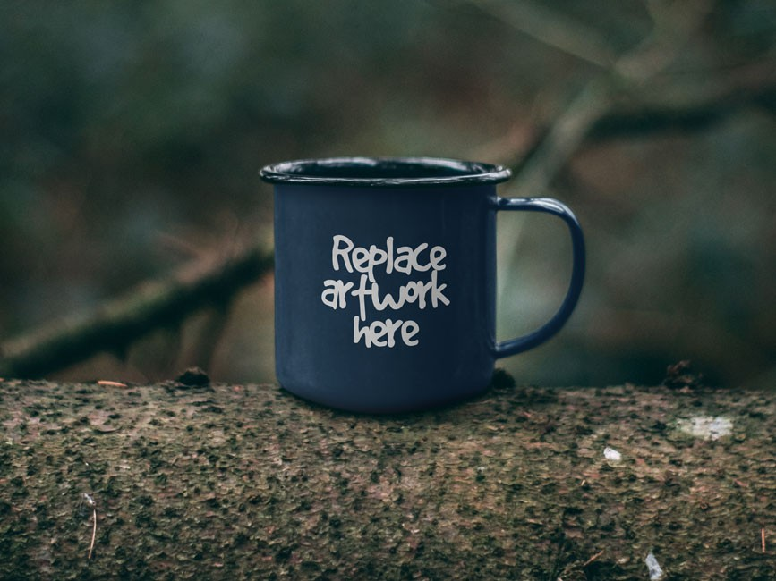 Outdoor Metal Mug Mockup