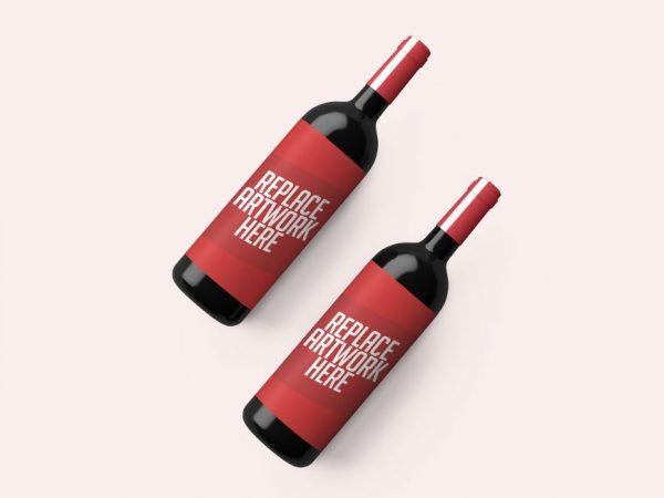 Realistic Wine Bottle PSD Mockup  mockup, free mockup, psd mockup, mockup psd, free psd, psd, download mockup, mockup download, photoshop mockup, mock-up, free mock-up, mock-up psd, mockup template, free mockup psd, presentation mockup, branding mockup, free psd mockup