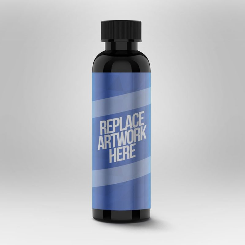 Tall Bottle PSD Mockup