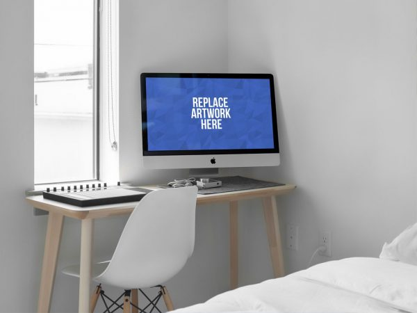 iMac on Home Desk Mockup  mockup, free mockup, psd mockup, mockup psd, free psd, psd, download mockup, mockup download, photoshop mockup, mock-up, free mock-up, mock-up psd, mockup template, free mockup psd, presentation mockup, branding mockup, free psd mockup