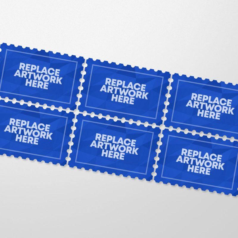 Retro Postage Stamp Mockup