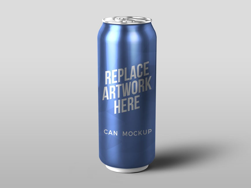 Energy Soda Can Mockup