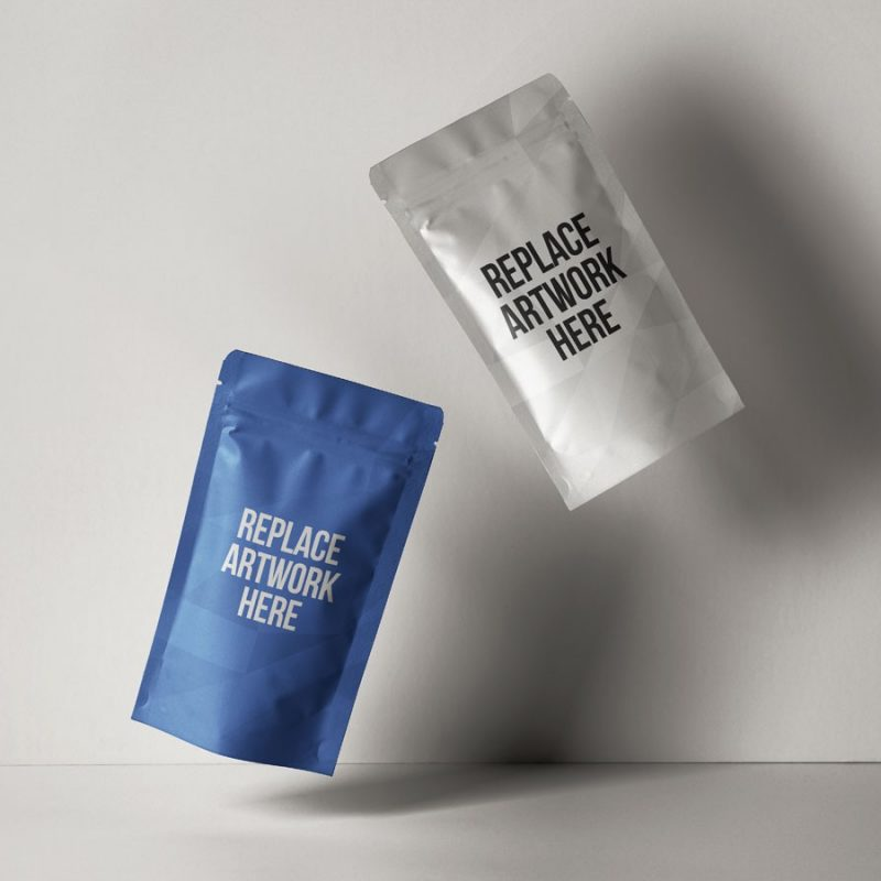 Floating Pouch Packaging Mockup