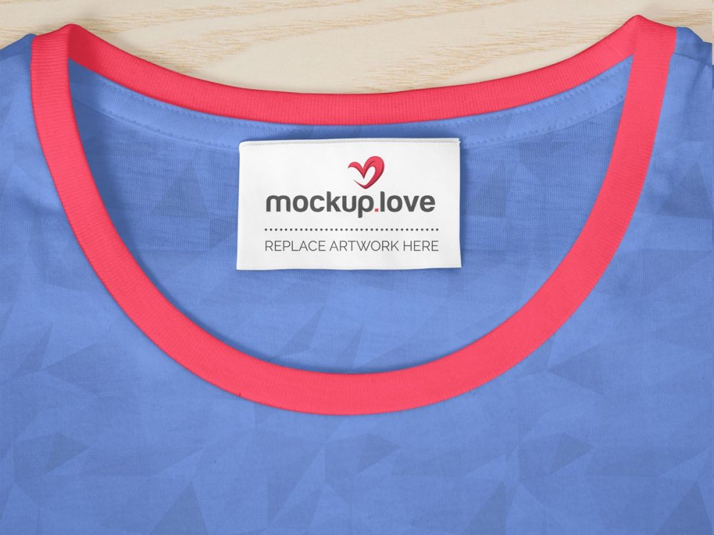 T Shirt Label Psd Mockup Mockup Love