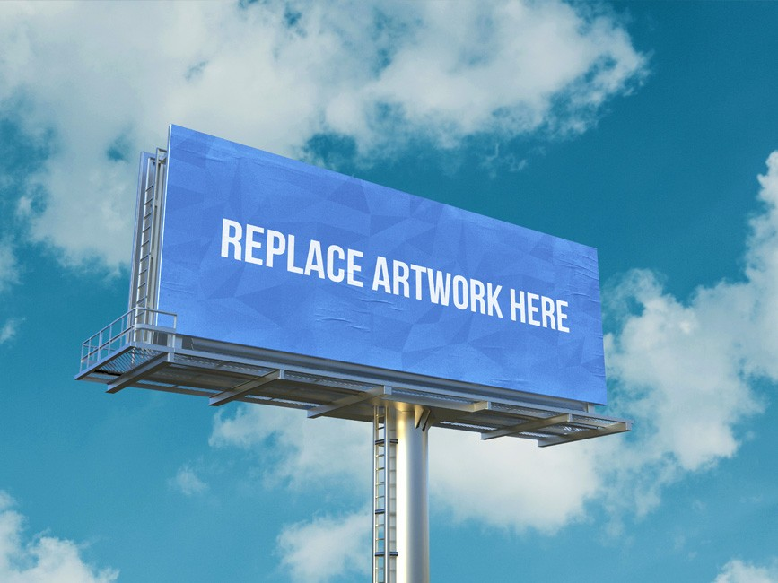 Outdoor Advertisement Billboard PSD Mockup