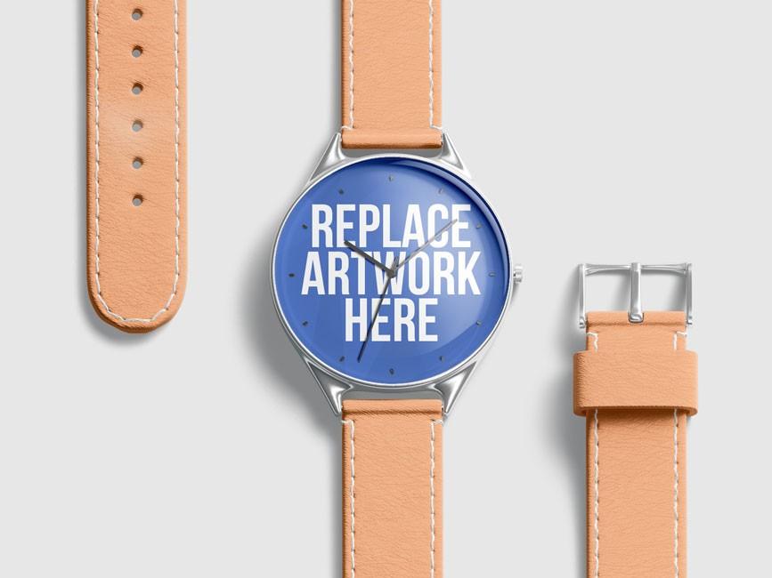 Round Wrist Watch Mockup