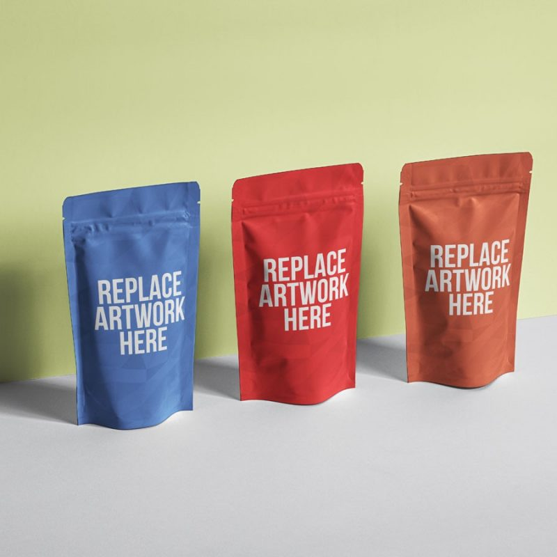 Multiple Pouch Packaging Mockup