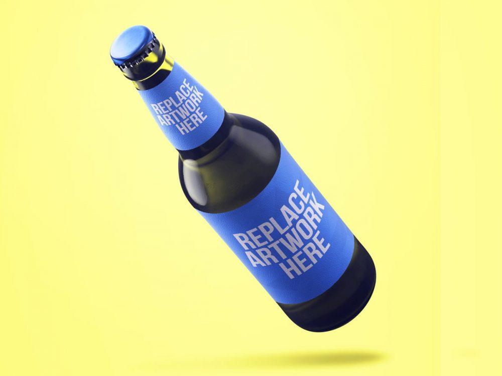 Floating Beer Bottle Mockup  mockup, free mockup, psd mockup, mockup psd, free psd, psd, download mockup, mockup download, photoshop mockup, mock-up, free mock-up, mock-up psd, mockup template, free mockup psd, presentation mockup, branding mockup, free psd mockup