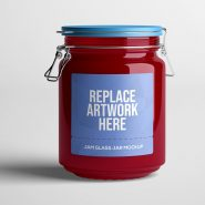 Jam Glass Jar Mockup
