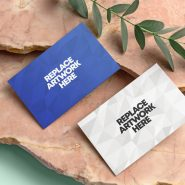 Thick Business Cards Mockup