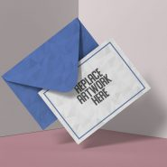 Modern Greeting Card Mockup