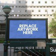 Subway Advertisement Billboard Mockup