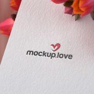 Paper Embossed Logo Mockup