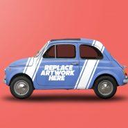 Vintage Car Wrap Mockup