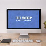 iMac on Desk Scene Mockup