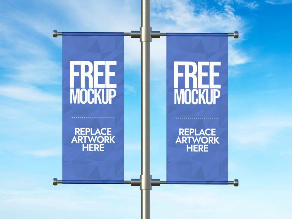 Lamp Post Advertising  Banner Mockup  mockup, free mockup, psd mockup, mockup psd, free psd, psd, download mockup, mockup download, photoshop mockup, mock-up, free mock-up, mock-up psd, mockup template, free mockup psd, presentation mockup, branding mockup, free psd mockup