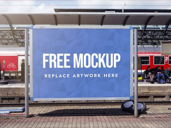 Train Station Advertising Billboard Mockup  mockup, free mockup, psd mockup, mockup psd, free psd, psd, download mockup, mockup download, photoshop mockup, mock-up, free mock-up, mock-up psd, mockup template, free mockup psd, presentation mockup, branding mockup, free psd mockup
