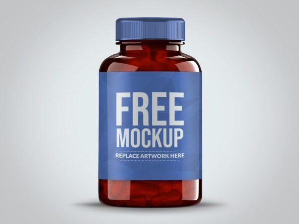 Pills Bottle Label Mockup  mockup, free mockup, psd mockup, mockup psd, free psd, psd, download mockup, mockup download, photoshop mockup, mock-up, free mock-up, mock-up psd, mockup template, free mockup psd, presentation mockup, branding mockup, free psd mockup