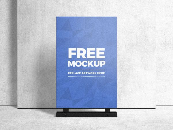 Advertising Stand Sign Poster Mockup  mockup, free mockup, psd mockup, mockup psd, free psd, psd, download mockup, mockup download, photoshop mockup, mock-up, free mock-up, mock-up psd, mockup template, free mockup psd, presentation mockup, branding mockup, free psd mockup