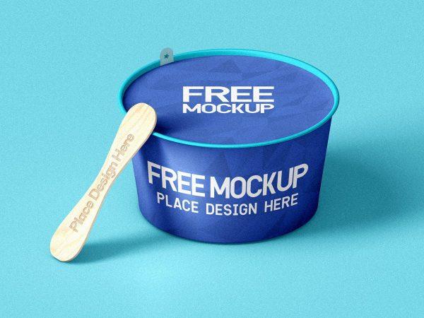 Ice Cream Cup With Wooden Stick Mockup  mockup, free mockup, psd mockup, mockup psd, free psd, psd, download mockup, mockup download, photoshop mockup, mock-up, free mock-up, mock-up psd, mockup template, free mockup psd, presentation mockup, branding mockup, free psd mockup