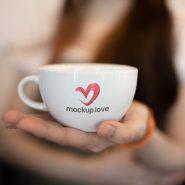 Tea Coffee Cup Logo Mockup
